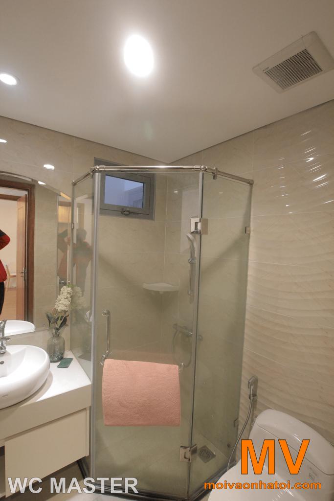 salle de bain beige marron
