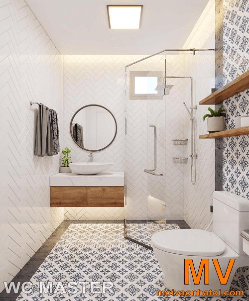 Aménagement intérieur de la salle de bain principale dans l'appartement 5 Parkhill