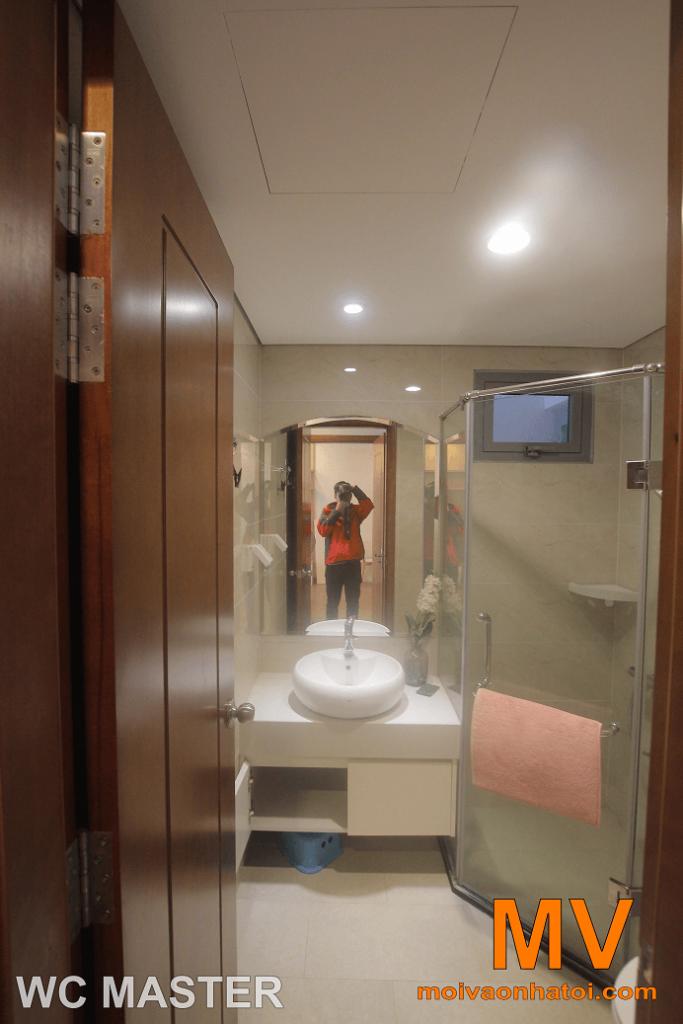 nội thất phòng vệ sinh master tại căn hộ parkhill 5