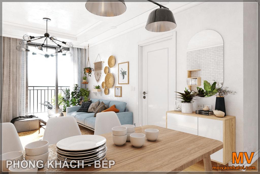 Design d'intérieur du salon de l'appartement Parkhill 5