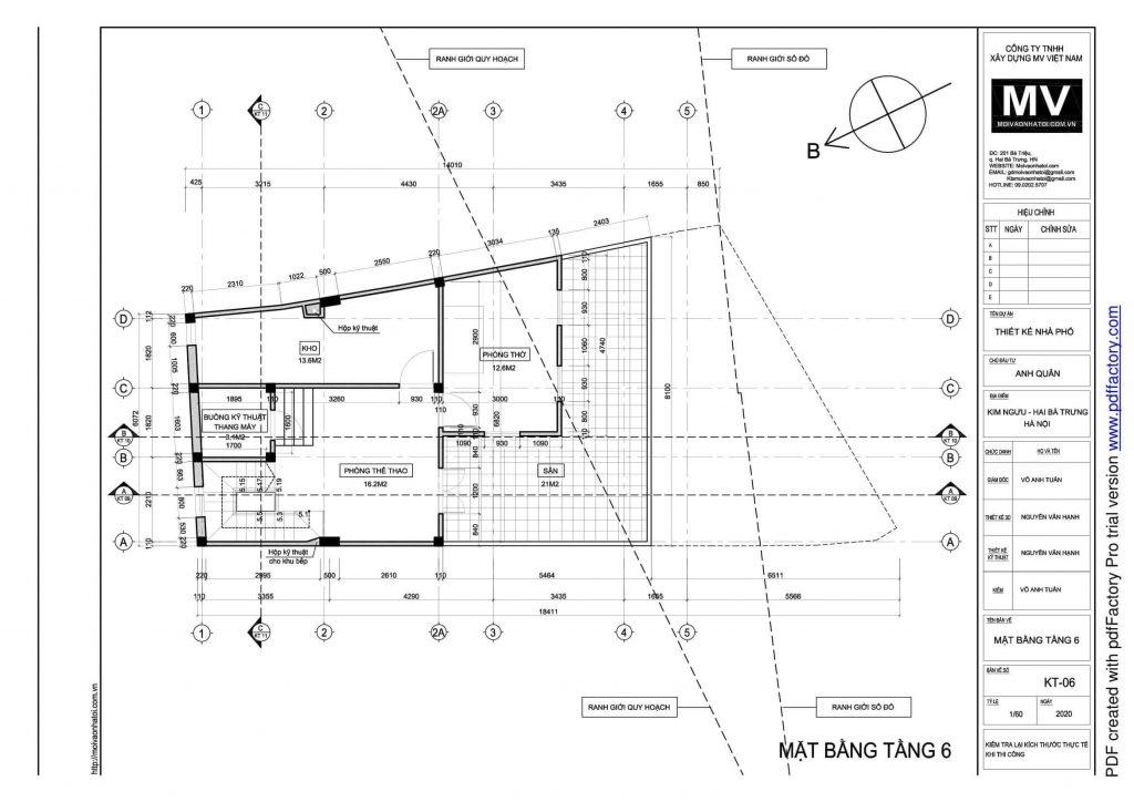 6th floor design drawings of high-rise buildings