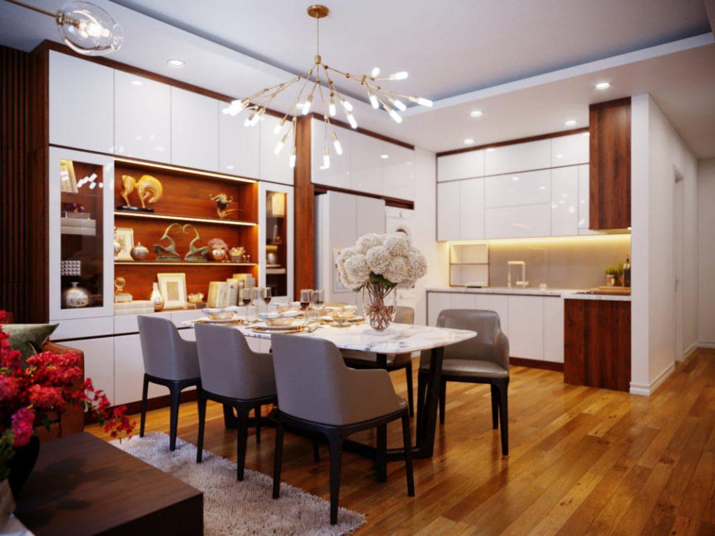 nội thất phòng bếp ăn bằng gỗ công nghiệp