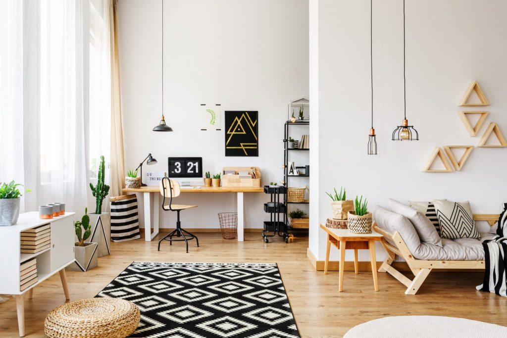 scandinavian style office room furniture