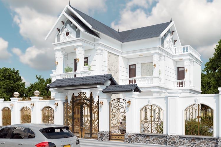 Thiết kế thi công biệt thự hiện đại tân cổ điển