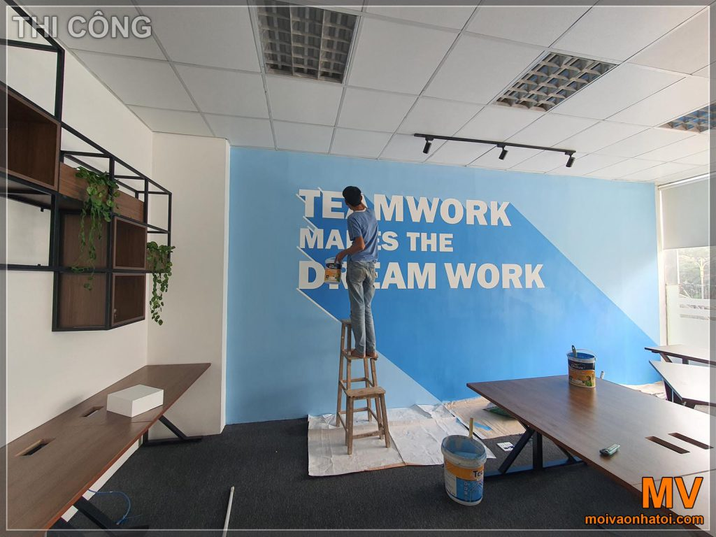 Декоративна фарба для стін офісу