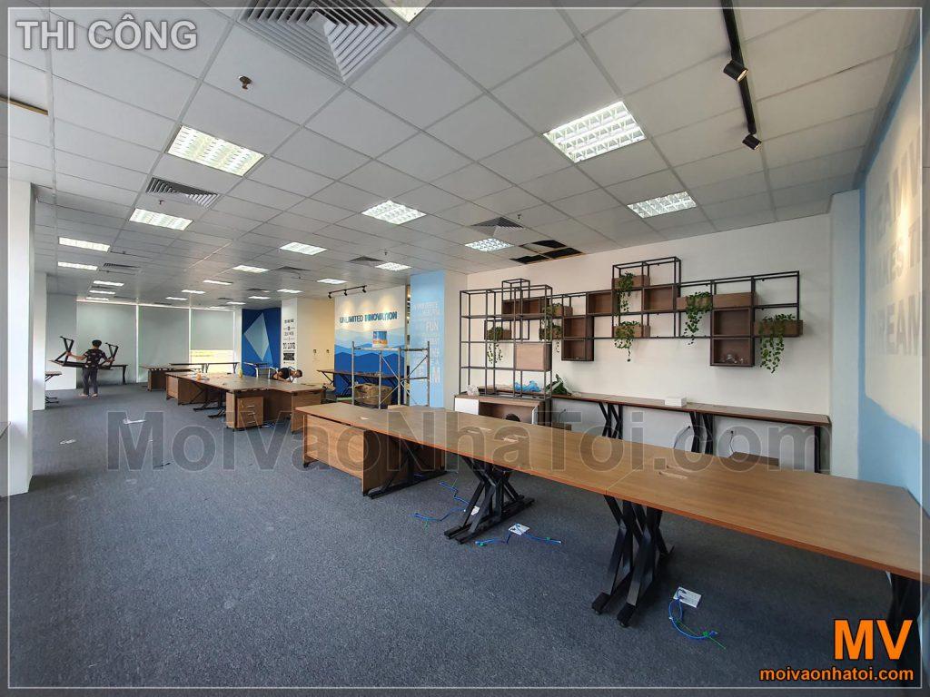 Installazione di mobili per lavori d'ufficio