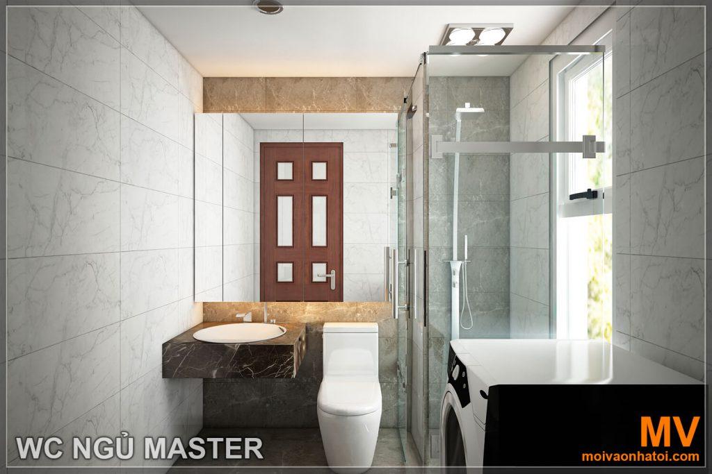 Thiết kế phòng vệ sinh chung cư hòa phát