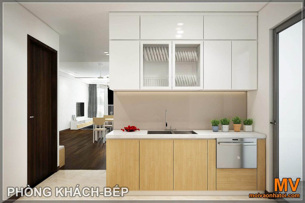 thiết kế phòng bếp căn hộ imperia garden