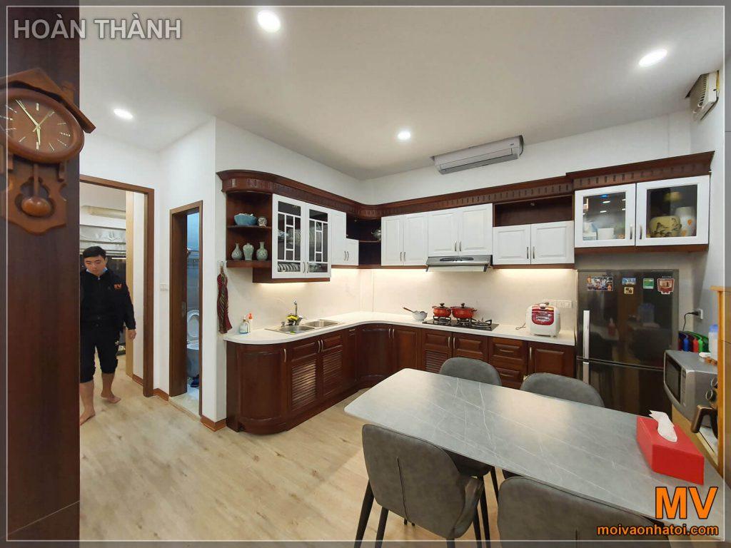 hoàn thiện phòng bếp chung cư cũ