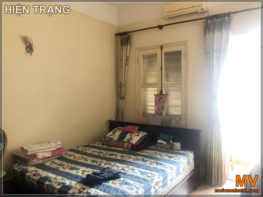 Hiện trạng phòng ngủ master chung cư