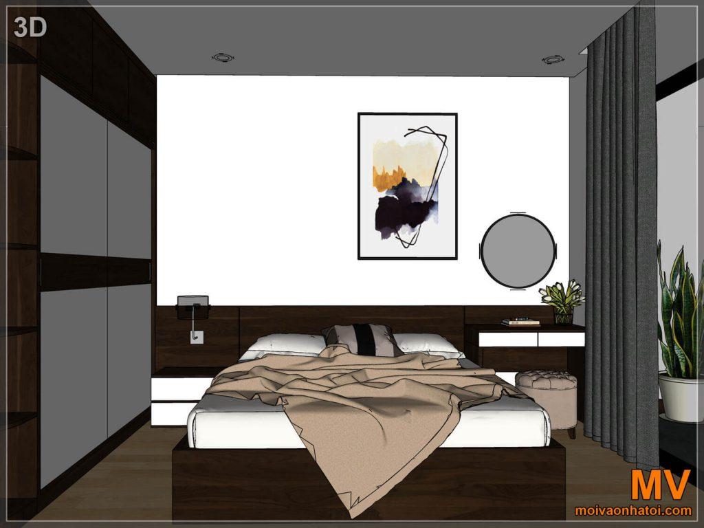 Thiết kế 3D phòng ngủ master chung cư