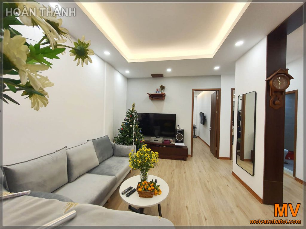 hoàn thiện phòng khách chung cư cũ