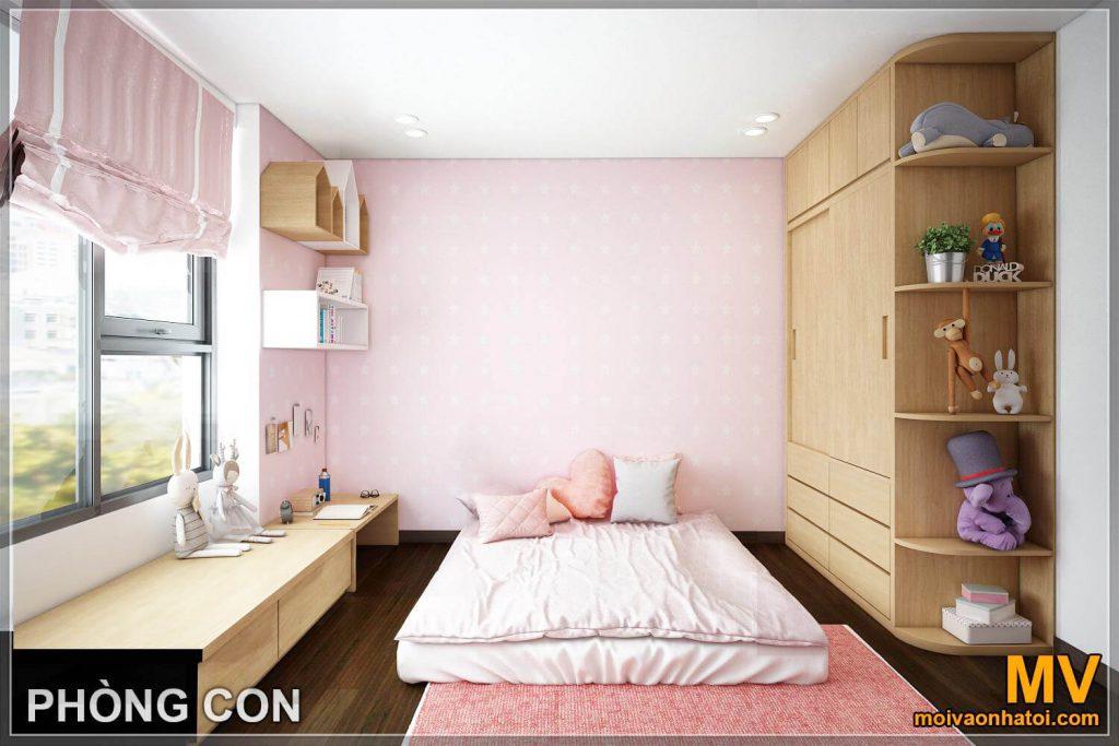 thiết kế phòng ngủ con căn hộ imperia garden