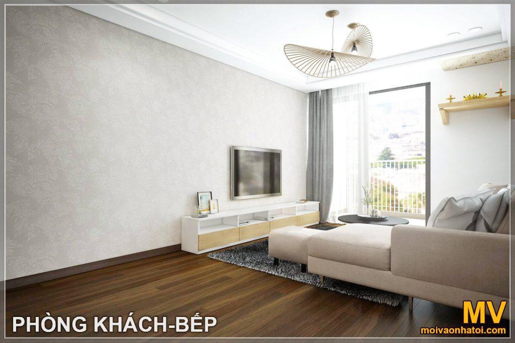 thiết kế phòng khách căn hộ imperia garden