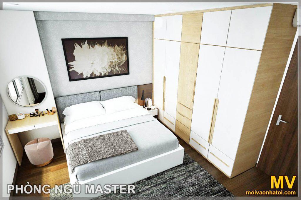 thiết kế phòng ngủ master căn hộ imperia garden