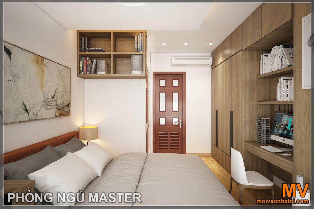 Thiết kế phòng ngủ master chung cư hòa phát