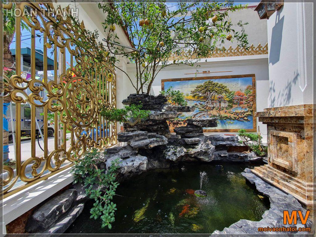 hoàn thiện sân vườn căn biệt thự