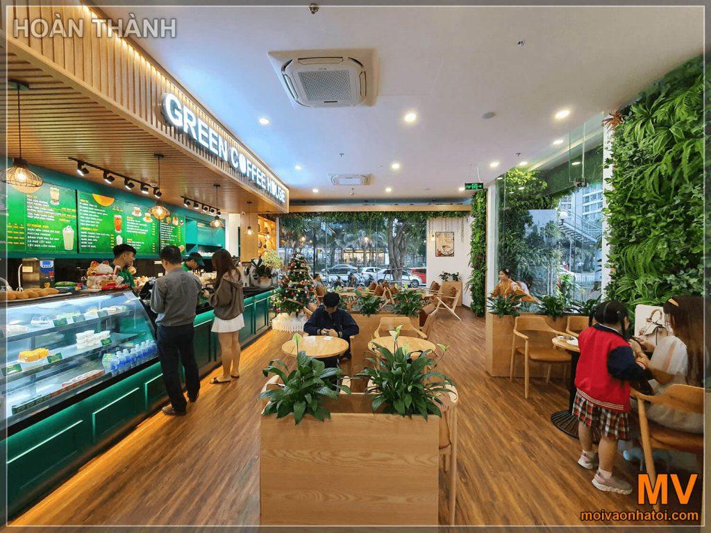 hoàn thành tầng 1 quán coffee times city