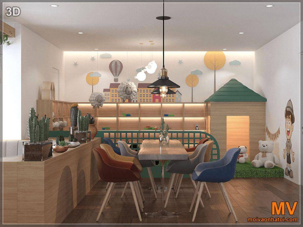 thiết kế 3D khu vui chơi dành riêng cho trẻ nhỏ