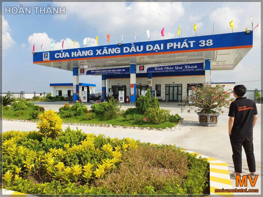 hoàn thiện cửa hàng xăng dầu