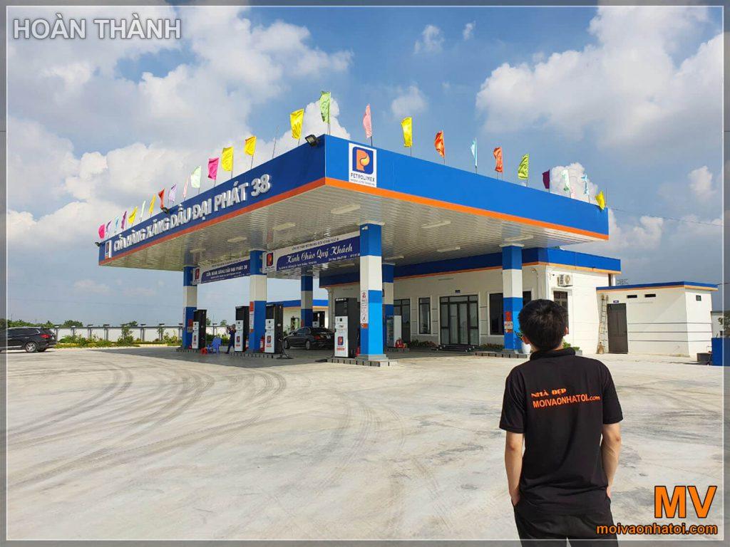 hoàn thiện thiết kế cửa hàng xăng dầu