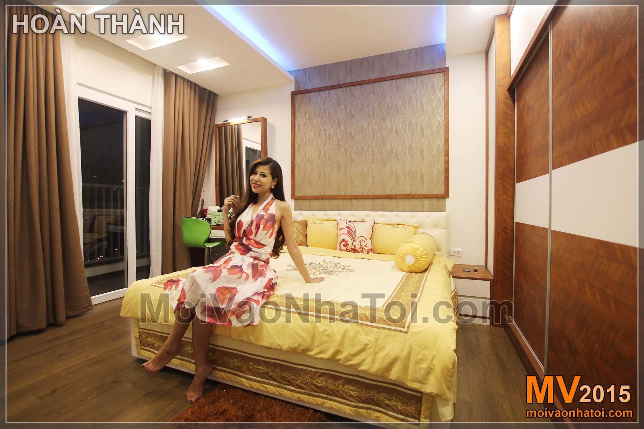 140平方米金宫公寓的豪华卧室空间