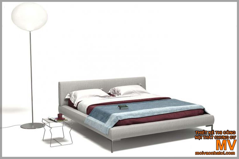 Các mẫu giường bọc nỉ đẹp