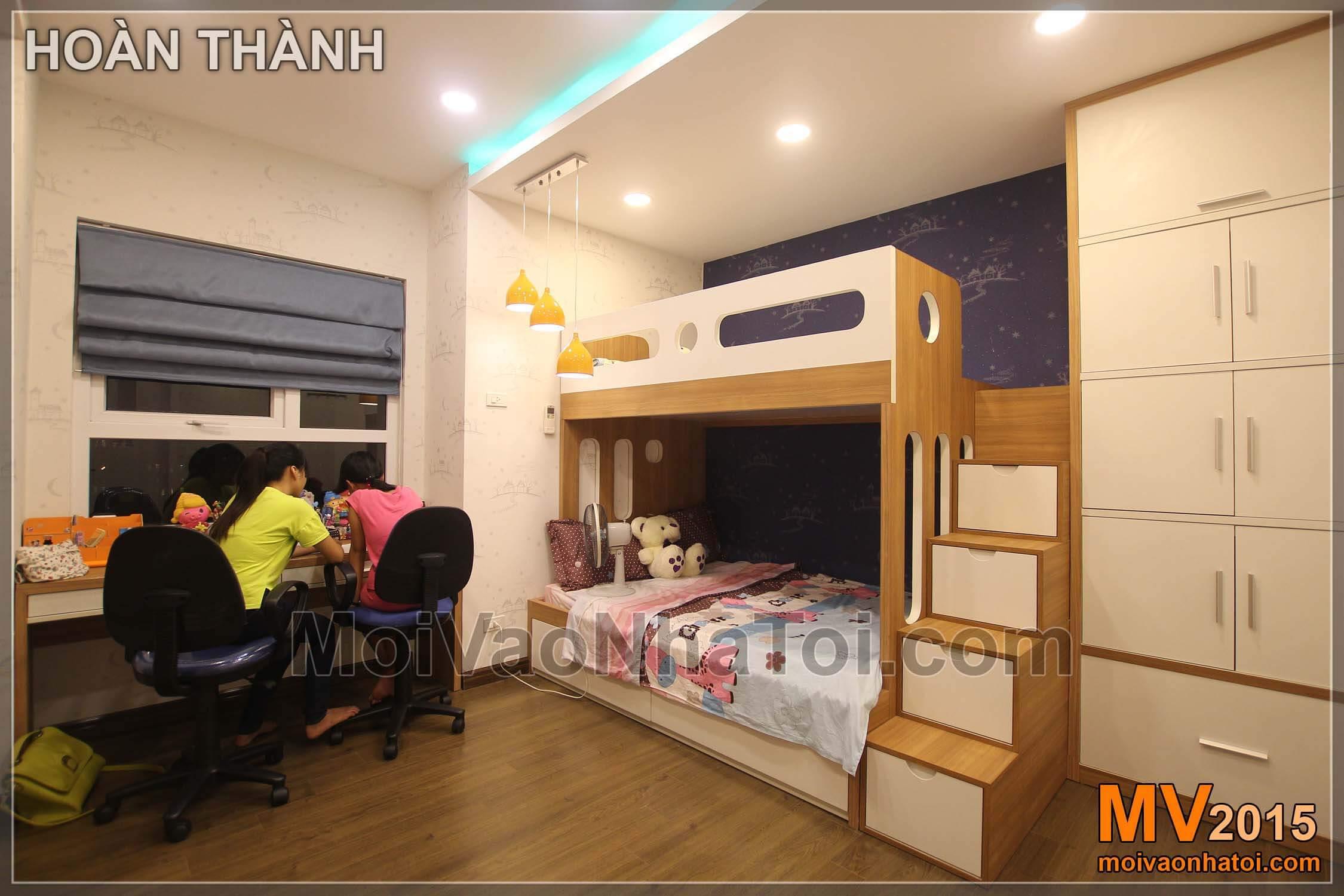 金宫公寓卧室双层床,140m2