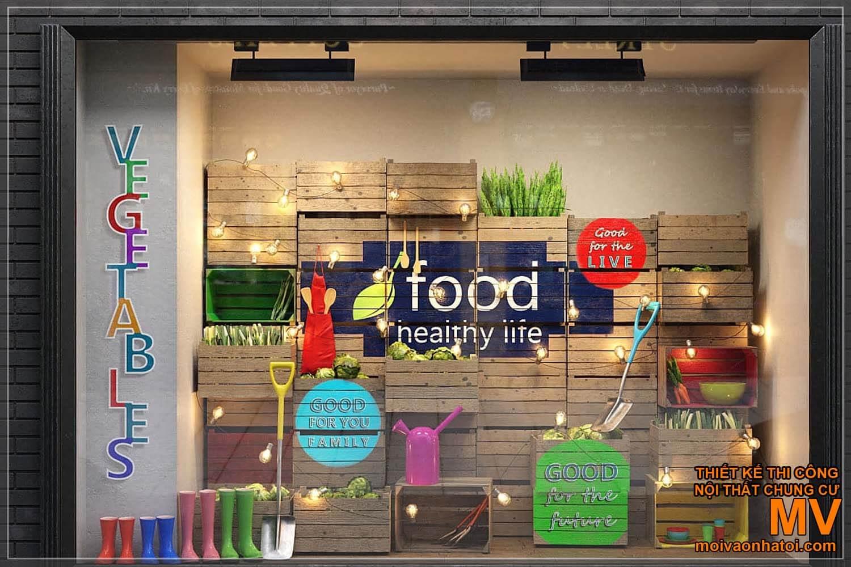Trang trí decor mặt tiền cửa hàng