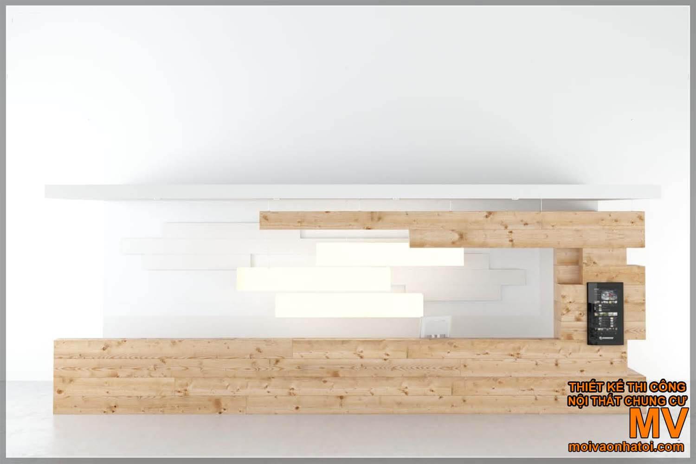 Thiết kế quầy bar - quầy lễ tân bằng gỗ hiện đại