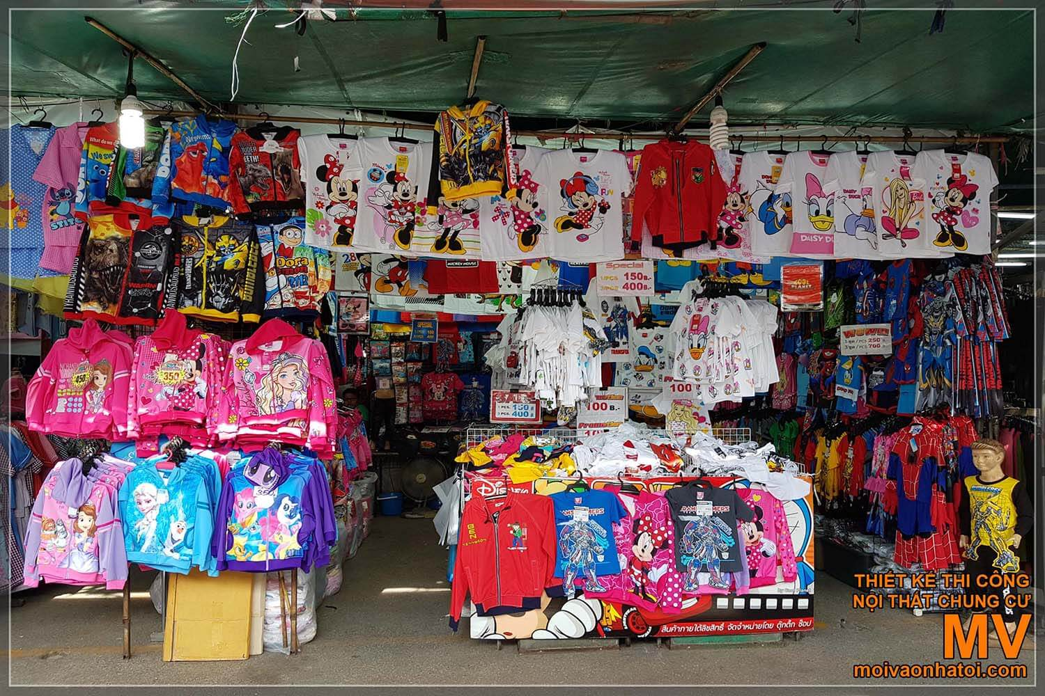 Inside the Thai market Chatuchak with a variety of goods