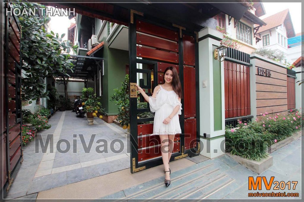 The entrance to Viet Hung Villa