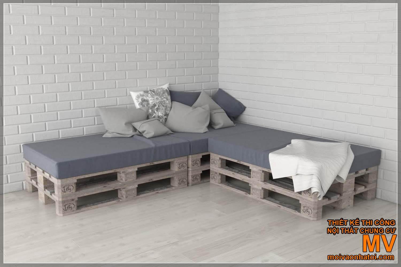 mẫu ghế gỗ pallet sofa