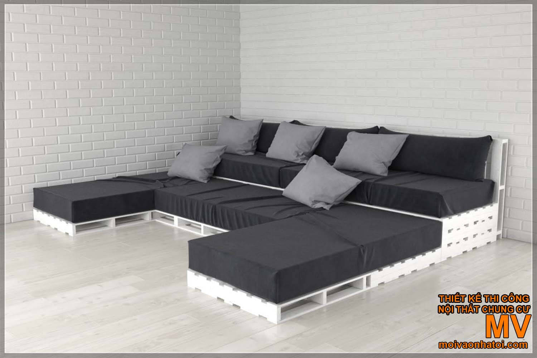 Ghế gỗ pallet sofa