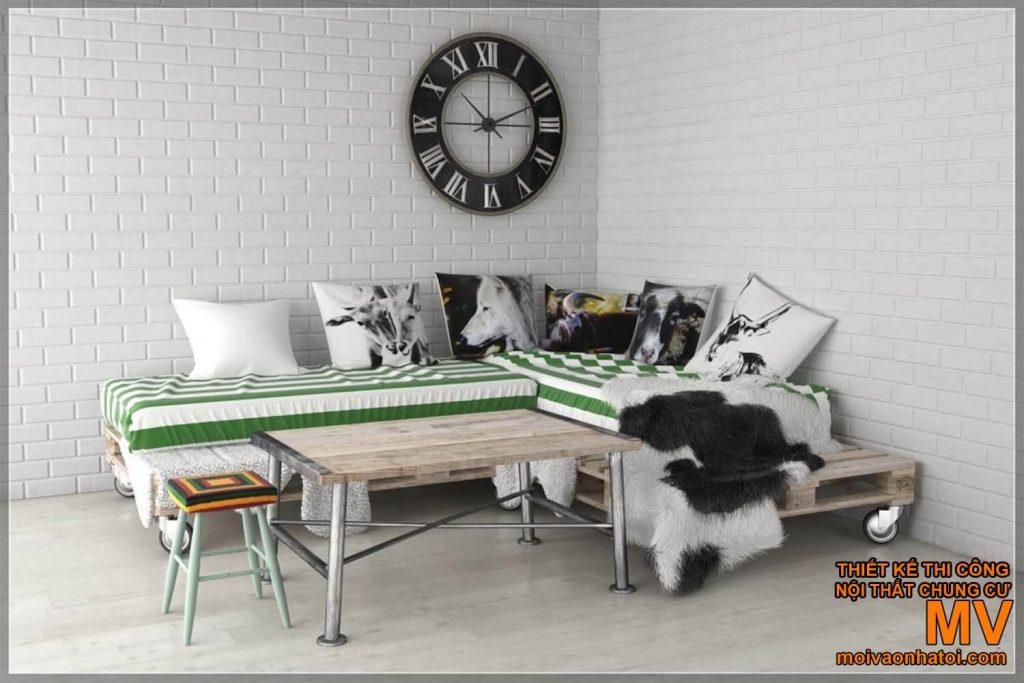 Сосновый мебельный поддон