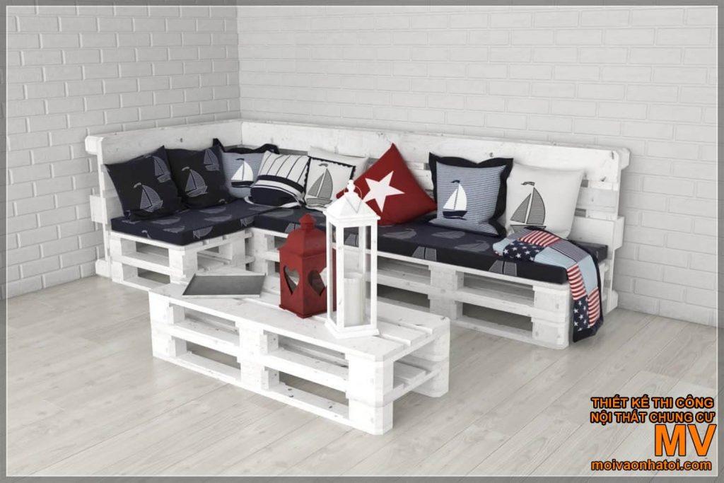 Простые паллетные столы и стулья
