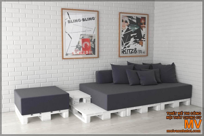 Mẫu ghế pallet sofa