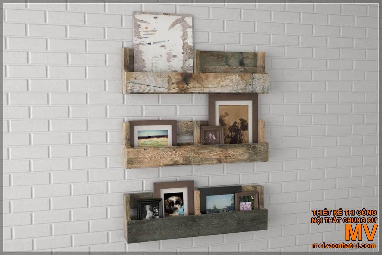 Nội thất bàn ghế kệ treo tường gỗ pallet