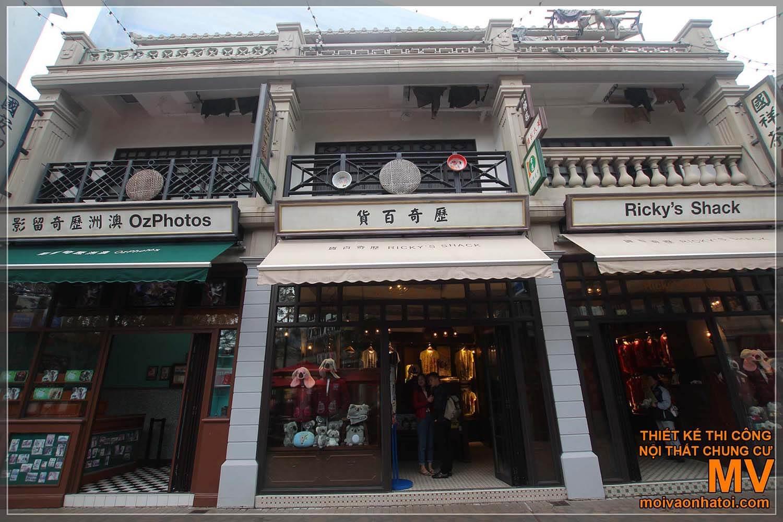 Mặt tiền nhà phố cổ điển