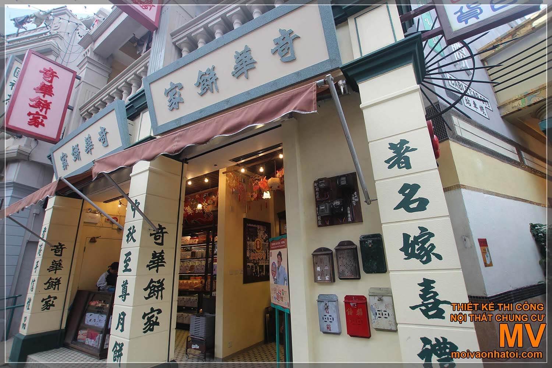 CÁC KIỂU MẶT TIỀN NHÀ PHỐ CỔ ĐIỂN TẠI HONG KONG