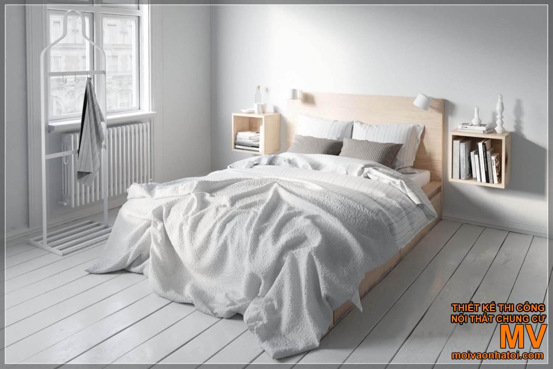 Thiết kế phòng ngủ - trang trí giường ngủ Scandinavian