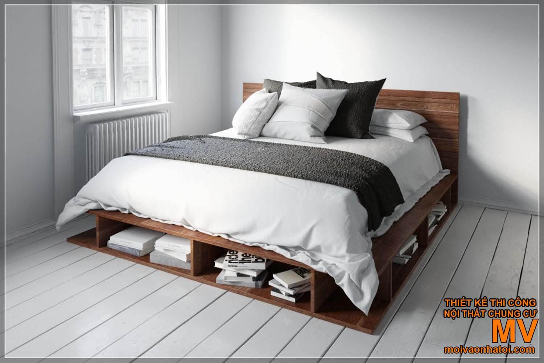 Thiết kế phòng ngủ trang trí giường ngủ Scandinavian