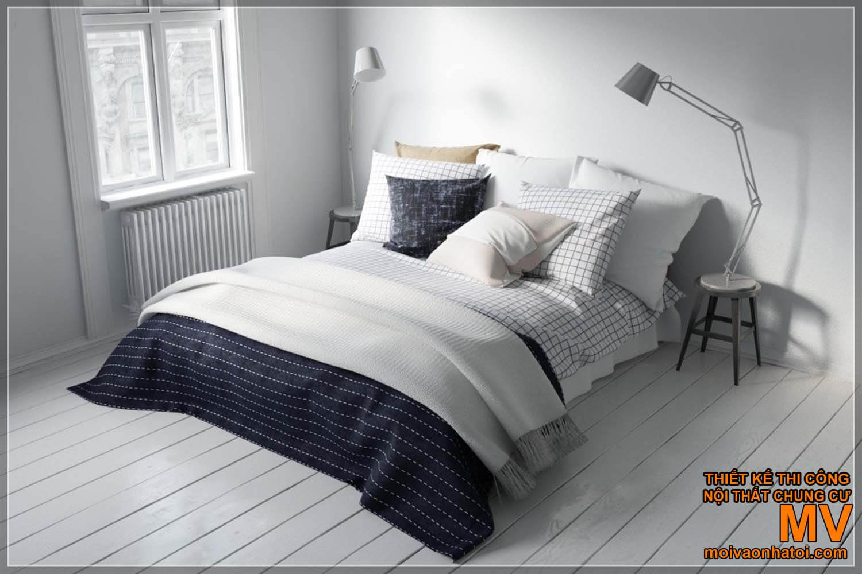 Trang trí giường ngủ Scandinavian