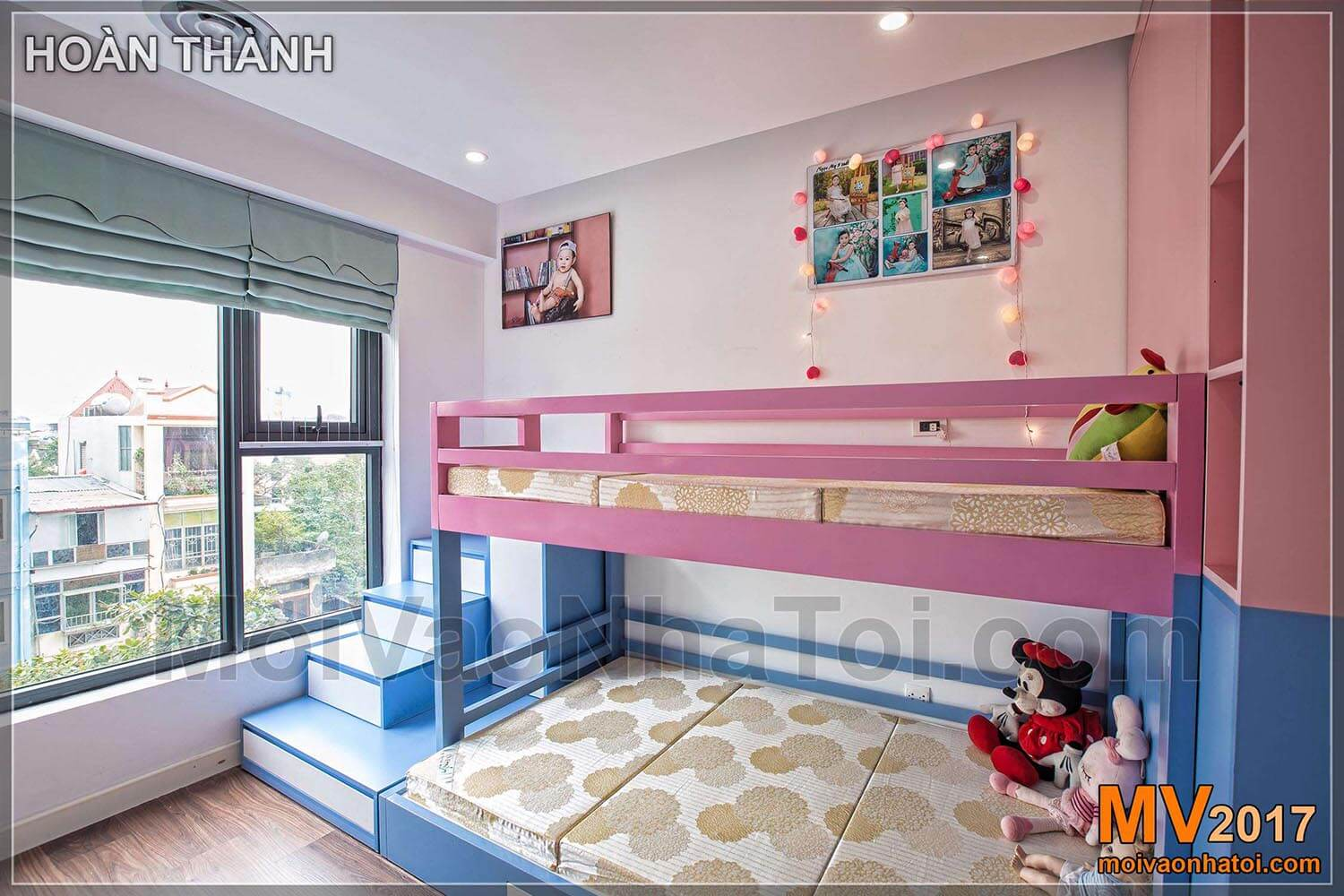 design and construction of a child bedroom with bunk beds in Imperia Sky Garden apartment building