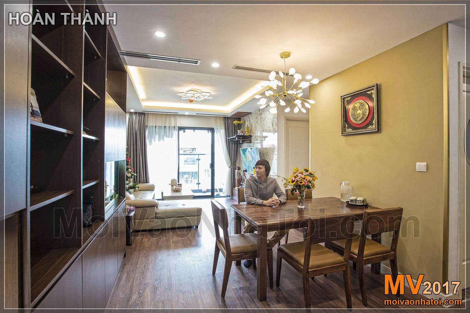 Dining table lights create highlights of IMPERIA GARDEN apartment
