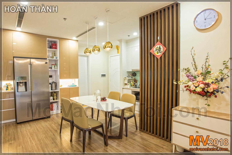 Perabot ruang makan di apartemen Times City Park Hill