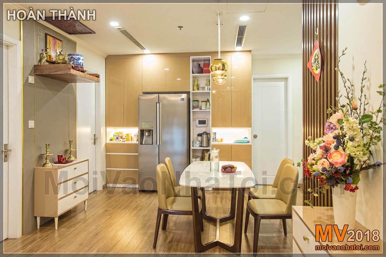 Times City Park Hill buzdolabı yemek odası