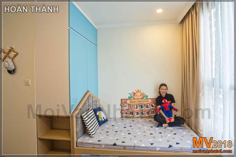 Lemari samping tempat tidur untuk kamar tidur anak