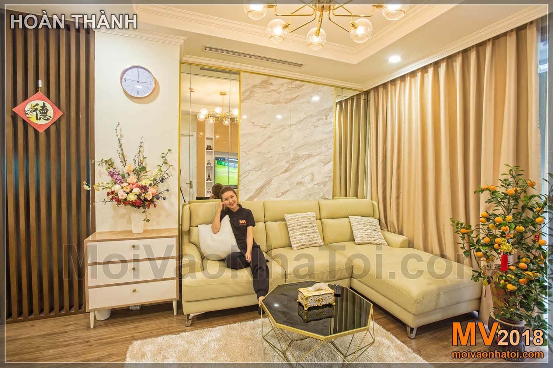 อพาร์ทเม้นท์กำแพงหินกรีกสีขาว Times City Park Hill