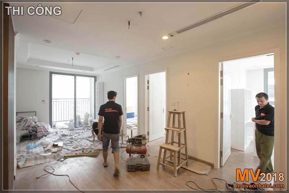 Proses pembangunan apartemen Times City Park Hill